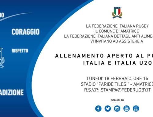 Allenamento aperto al pubblico Italia Rugby